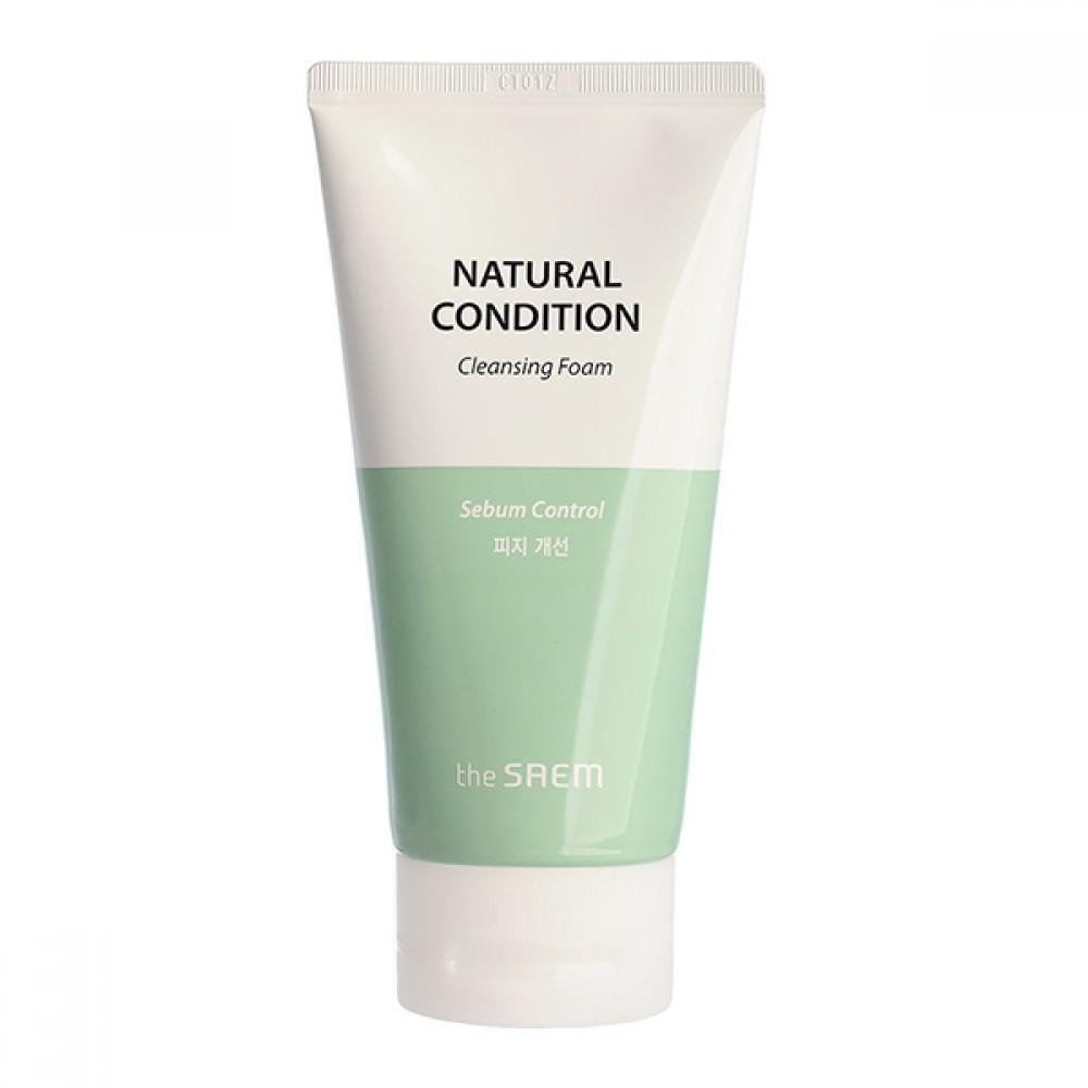 The Saem Natural Condition Cleansing Foam [Sebum Controlling] Очищающая пенка с экстрактами лайма и мяты