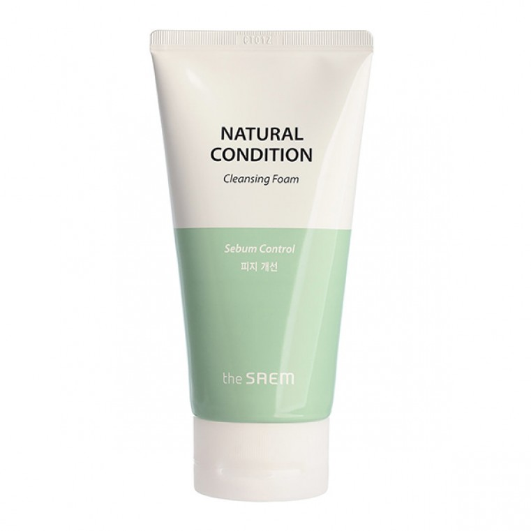 The Saem Natural Condition Cleansing Foam [Sebum Controlling] Очищающая пенка с экстрактами лайма и мяты