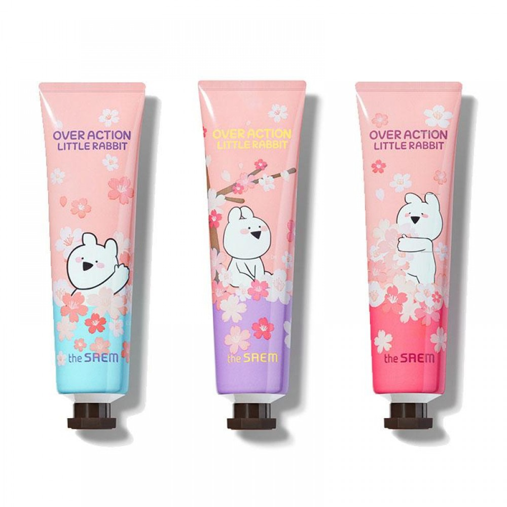 The Saem OverAction Little Rabbit Perfuemd Hand Velvet Cream Крем для рук парфюмированый