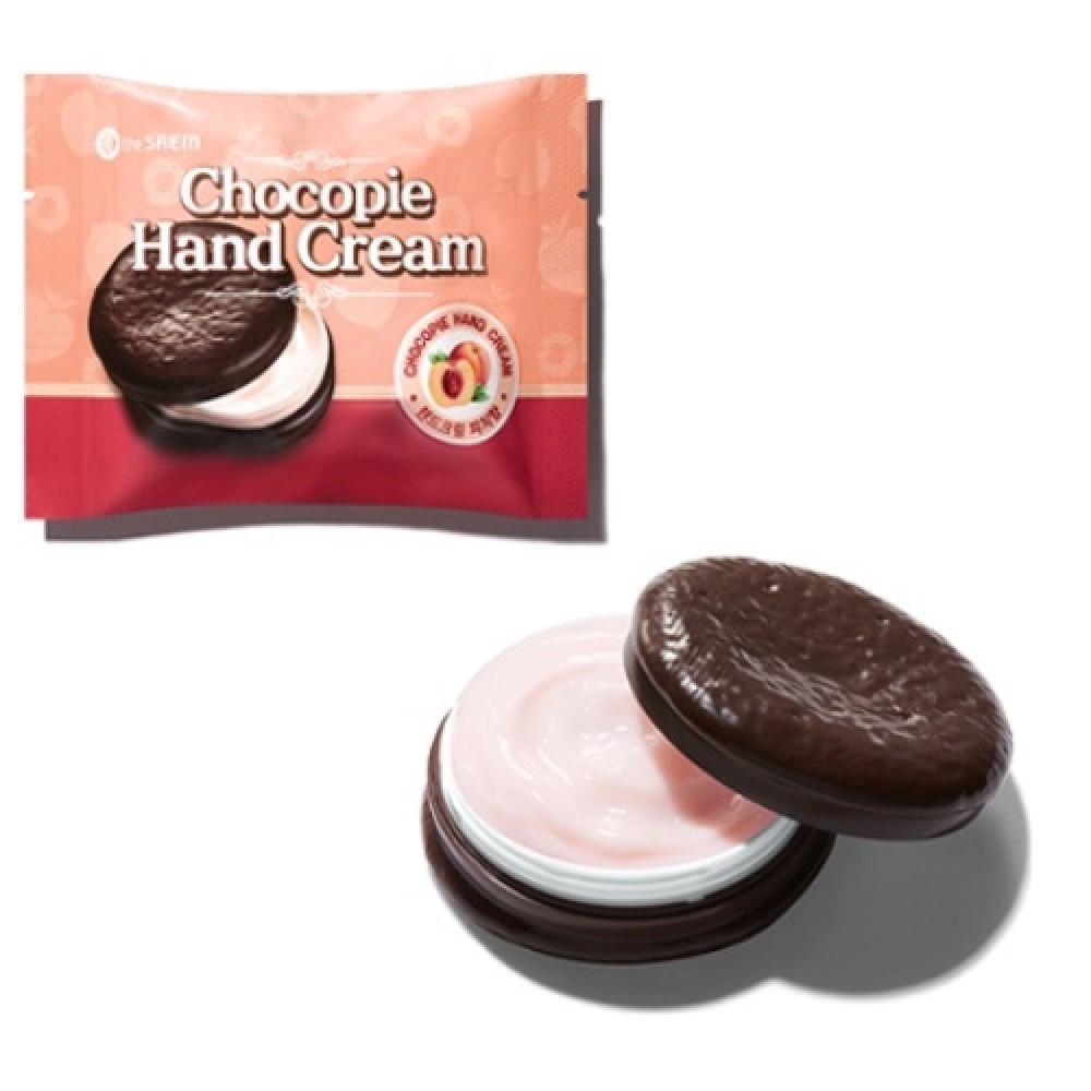 THE SAEM Chocopie Hand Cream Peach Крем для рук чокопай с ароматом персика