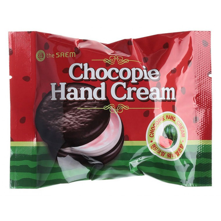THE SAEM Chocopie Hand Cream Watermelon Крем для рук чокопай с ароматом арбуза