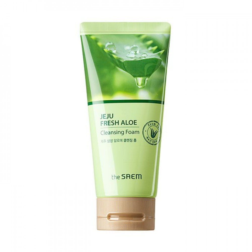 The Saem Jeju Fresh Aloe Cleansing Foam Пенка для умывания с алоэ вера