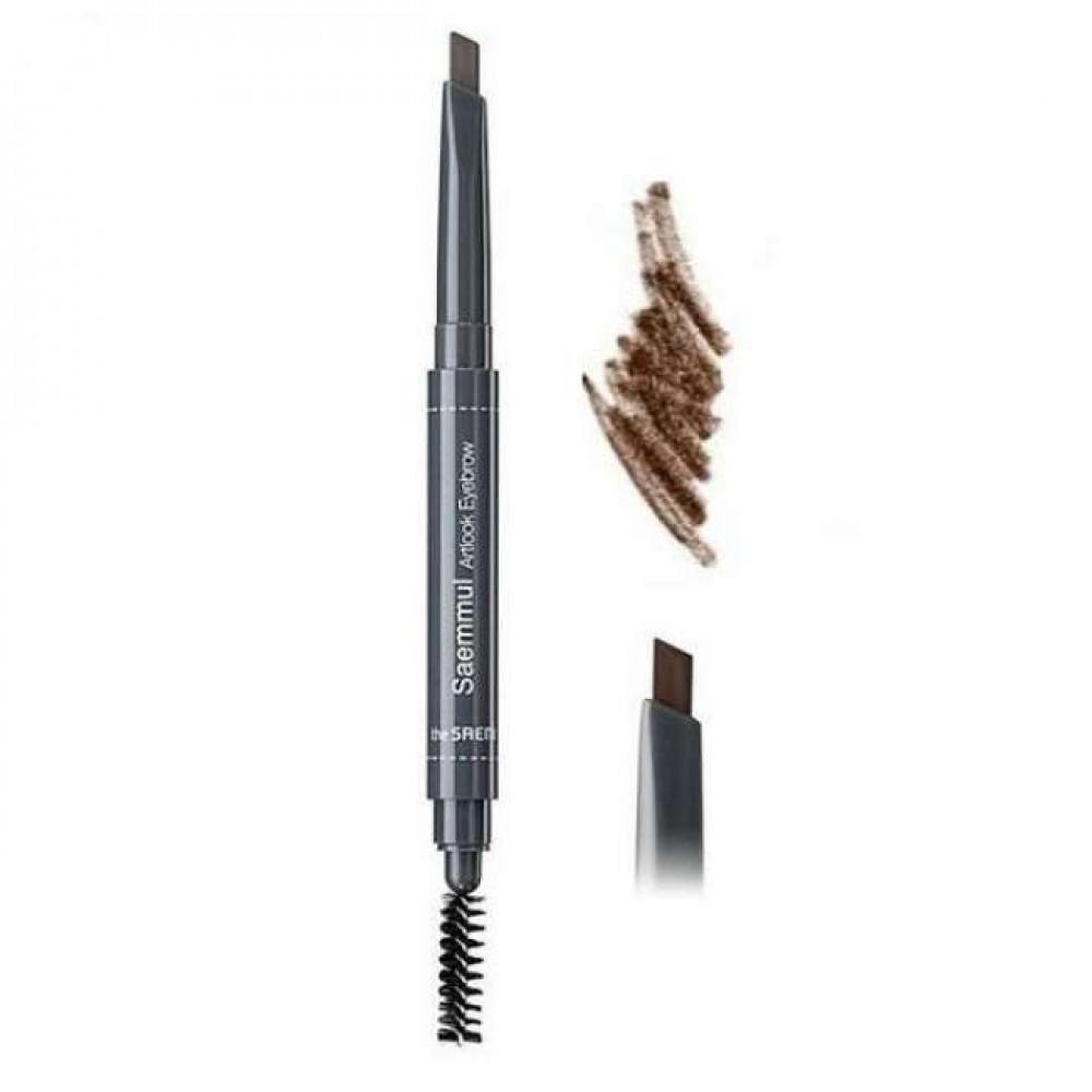 THE SAEM Saemmul Artlook Eyebrow 05. Natural Brown Устойчивый карандаш для бровей с щеточкой Натуральный коричневый
