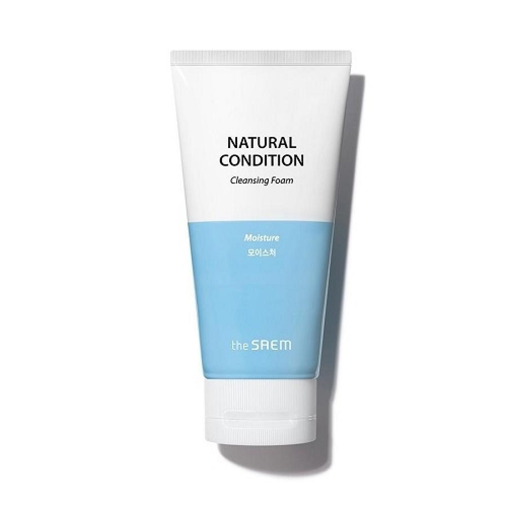 The Saem Natural Condition Cleansing Foam Creamy Whip Осветляющая пенка для умывания