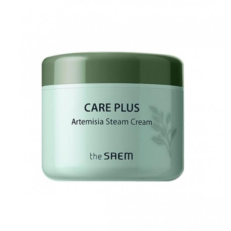 The Saem Care Plus Artemisia Steam Cream Увлажняющий и успокаивающий крем с полынью