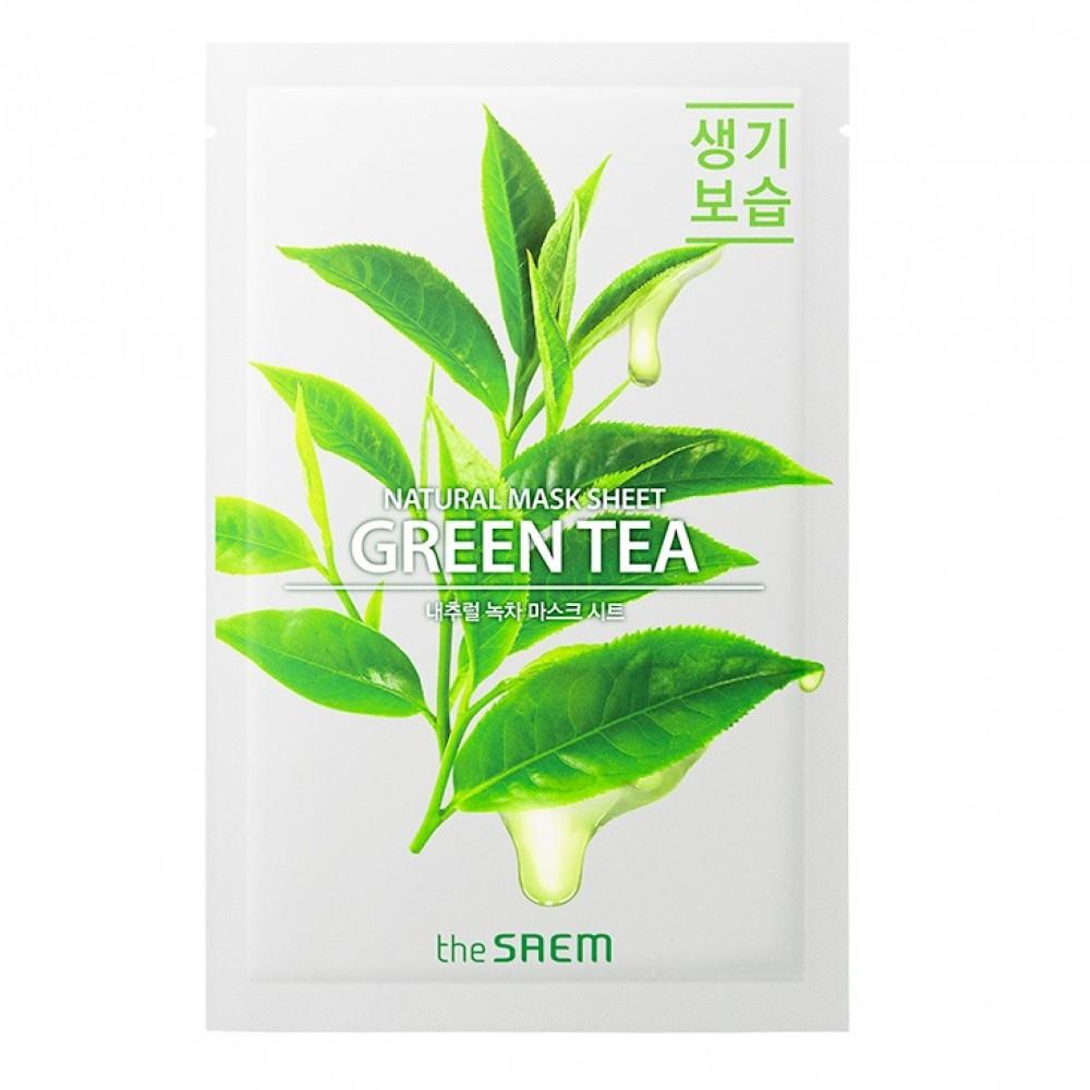 Natural Green Tea Mask Sheet Маска тканевая с экстрактом зеленого чая