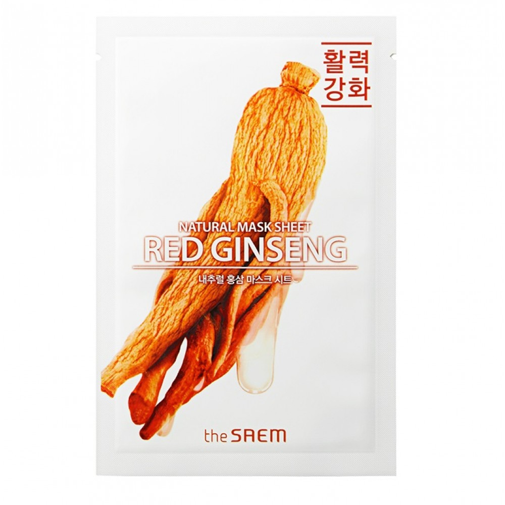 Natural Red Ginseng Mask Sheet Маска тканевая с экстрактом женьшеня