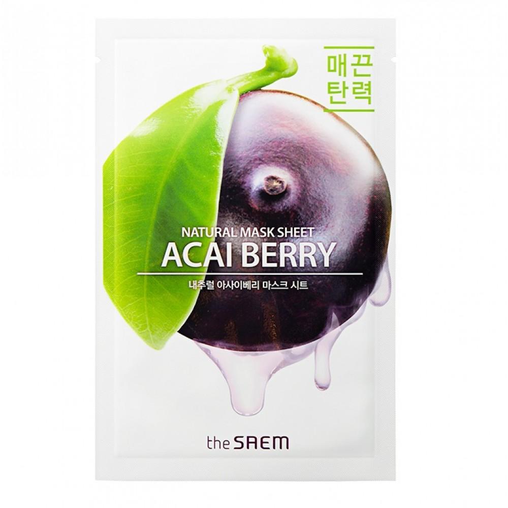 Natural Acai Berry Mask Sheet Маска тканевая с экстрактом ягод асаи