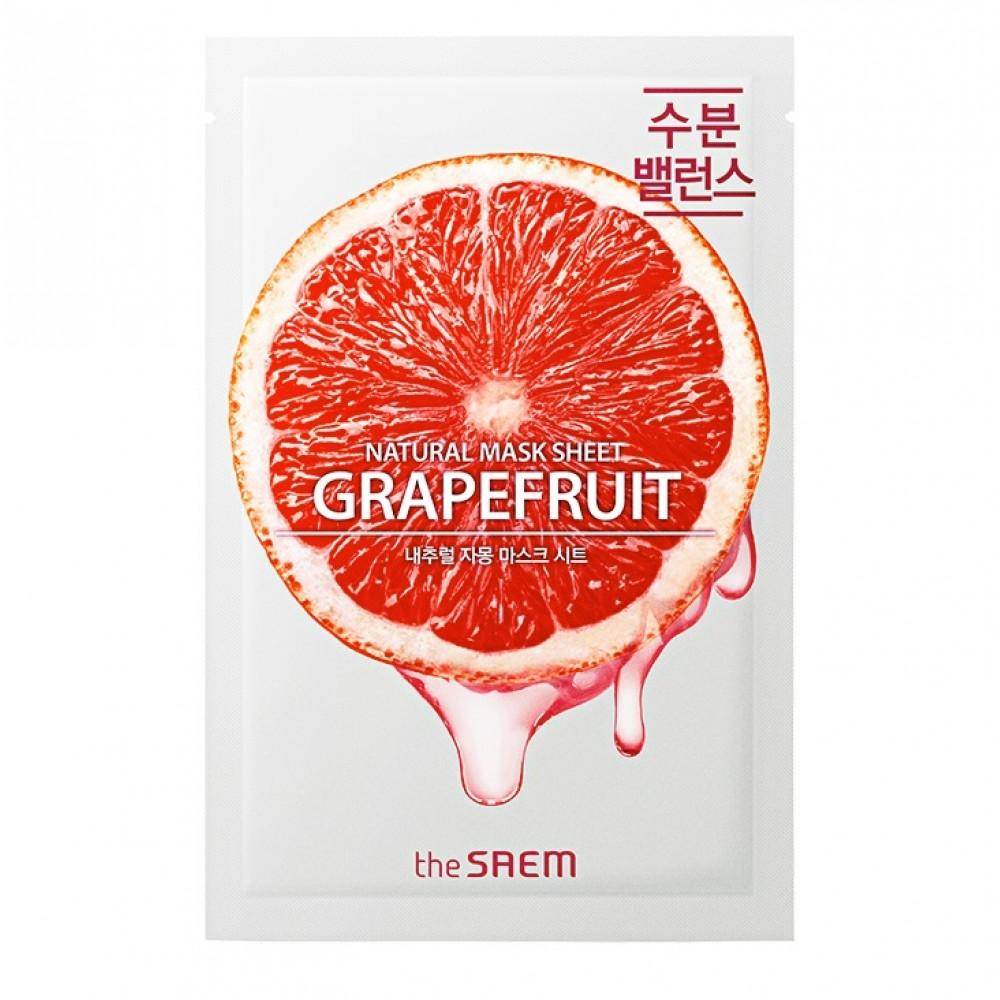 Natural Skin Fit Mask Sheet Grapefruit Маска тканевая Grapefruit Маска тканевая грейпфрут