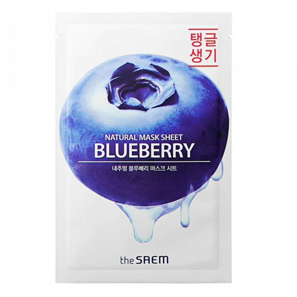 Natural Blueberry Mask Sheet Маска тканевая с экстрактом черники