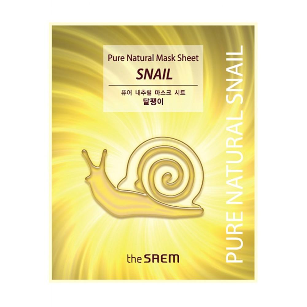 The Saem Pure Natural Mask Sheet [Snail] Маска тканевая с муцином улитки