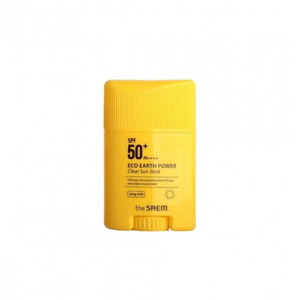 The Saem Eco Earth Power Clear Sun Stick Стик солнцезащитный SPF50+ PA+++