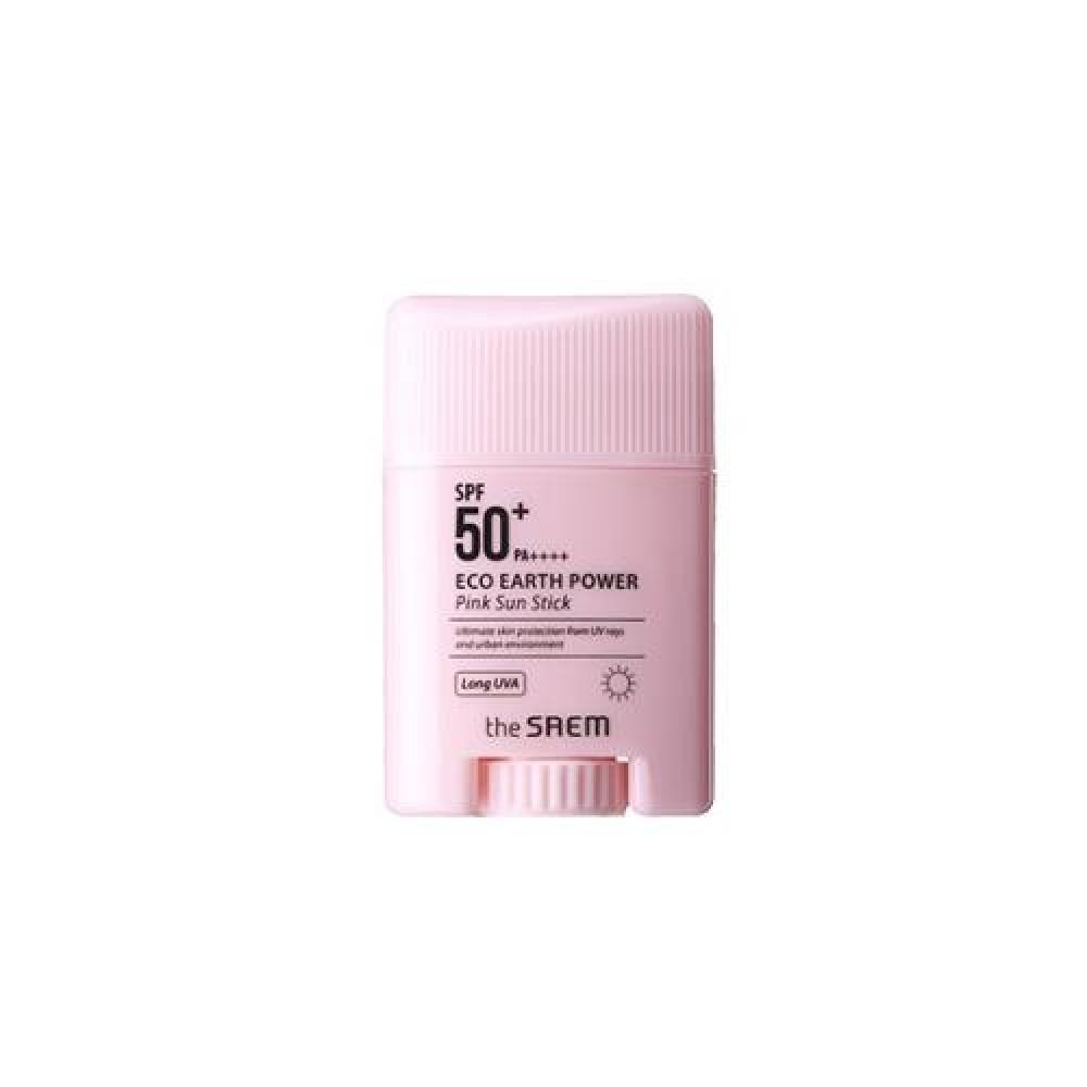 The Saem Eco Earth Power Pink Sun Stick Солнцезащитный стик для чувствительной кожи SPF 50 PA++++