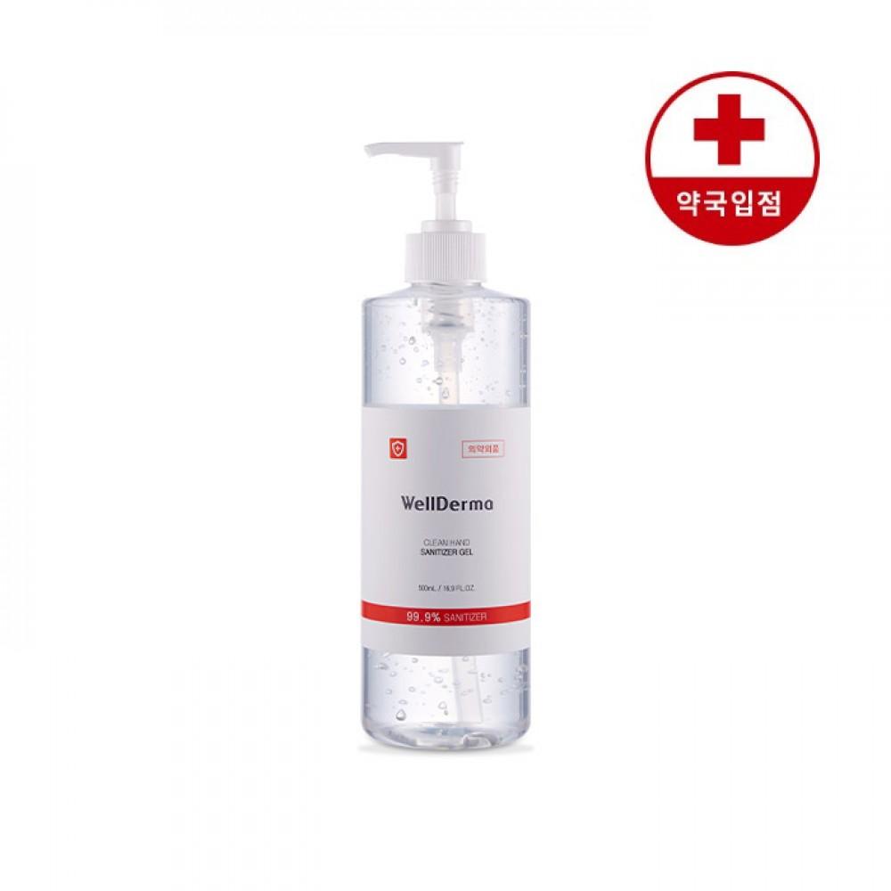 Wellderma Safe Clean Hand Sanitizer Gel Гель-санитайзер для рук 62% этанола, 500мл.