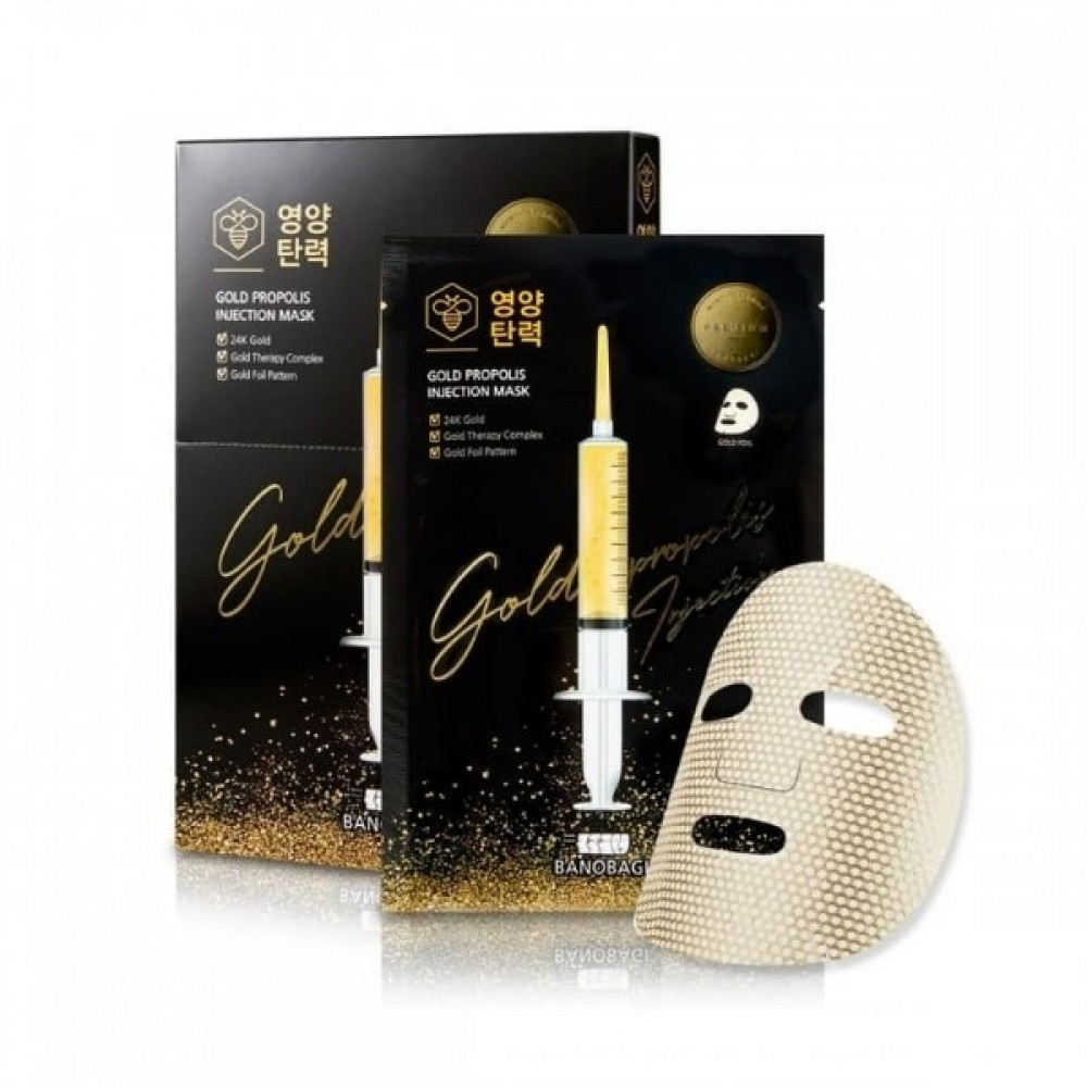 Gold Propolis Injection Mask Маска тканевая восстанавливающая маска с золотом и прополисом
