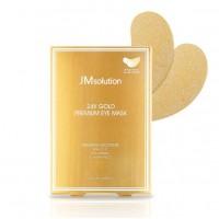 24K Gold Premium Eye Mask Патчи укрепляющие с золотом  JM Solution