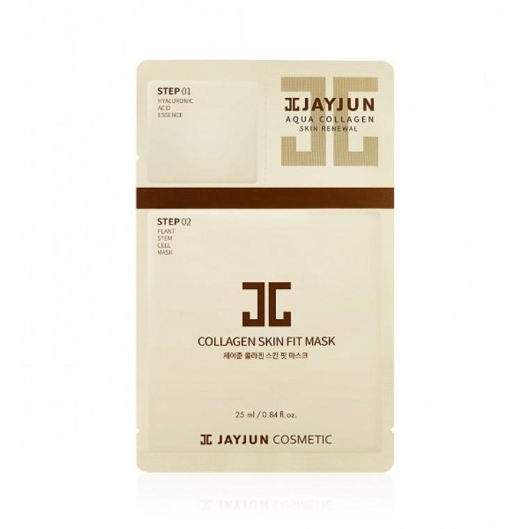 JayJun Collagen Skin Fit Mask Маска тканевая омолаживающая двухэтапная с коллагеном