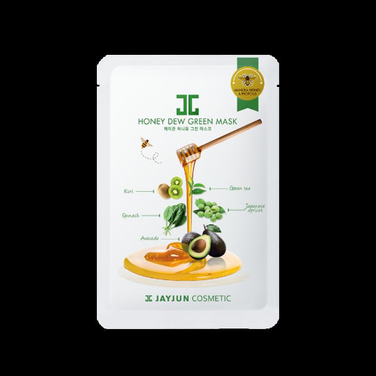 """JayJun Honey Dew Green Mask Маска тканевая Зелёный комплекс """"Освежающий"""""""