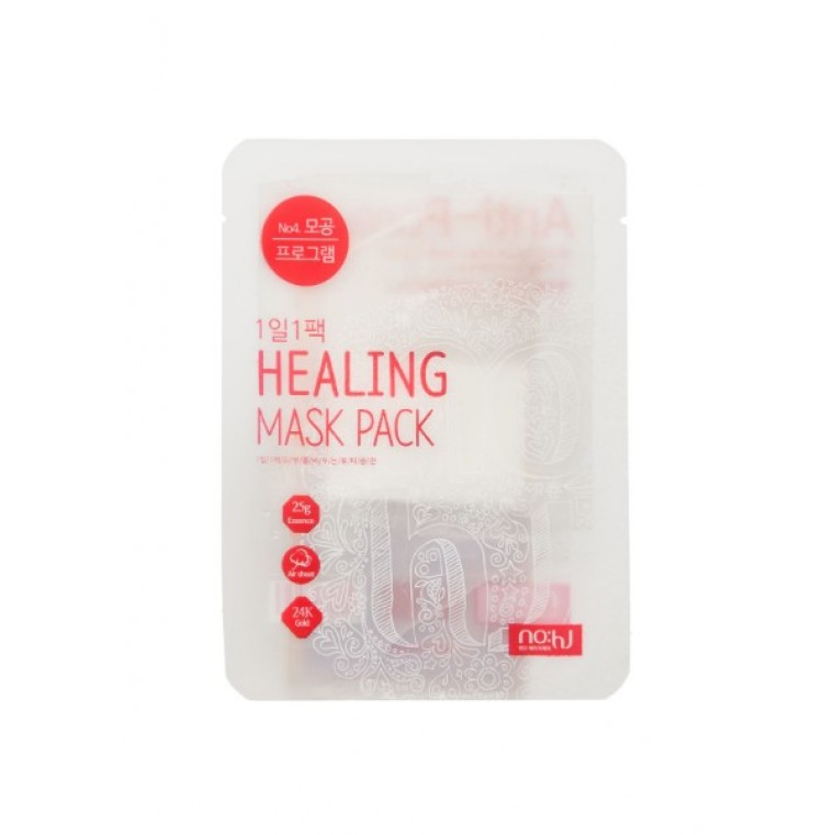 Healing Mask Pack №4 Anti-Pore Маска тканевая с экстрактом грейпфрута для сужения пор