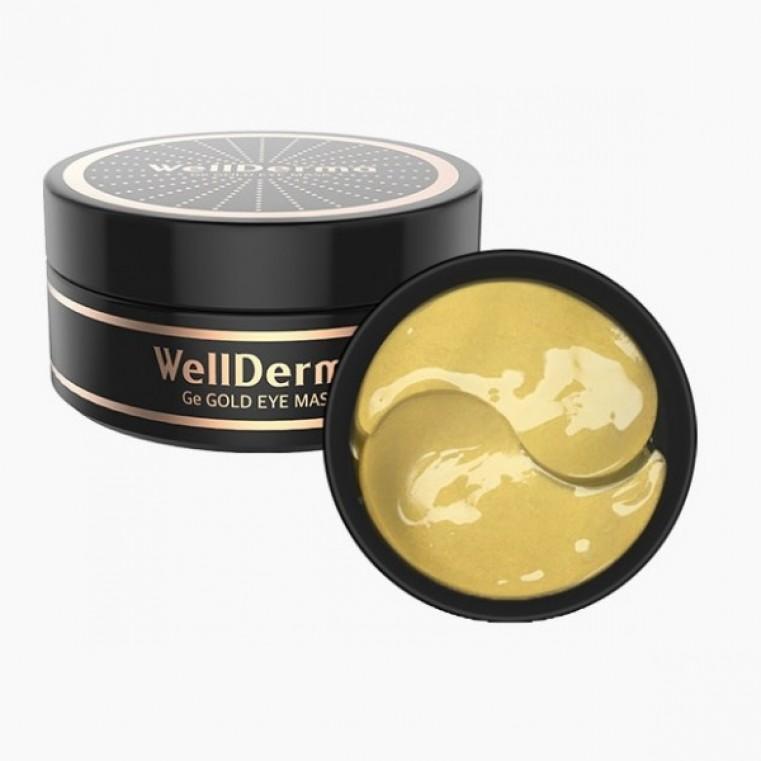 WellDerma Ge Gold Eye Mask Патчи с золотом и ферментом германия против морщин и сухости