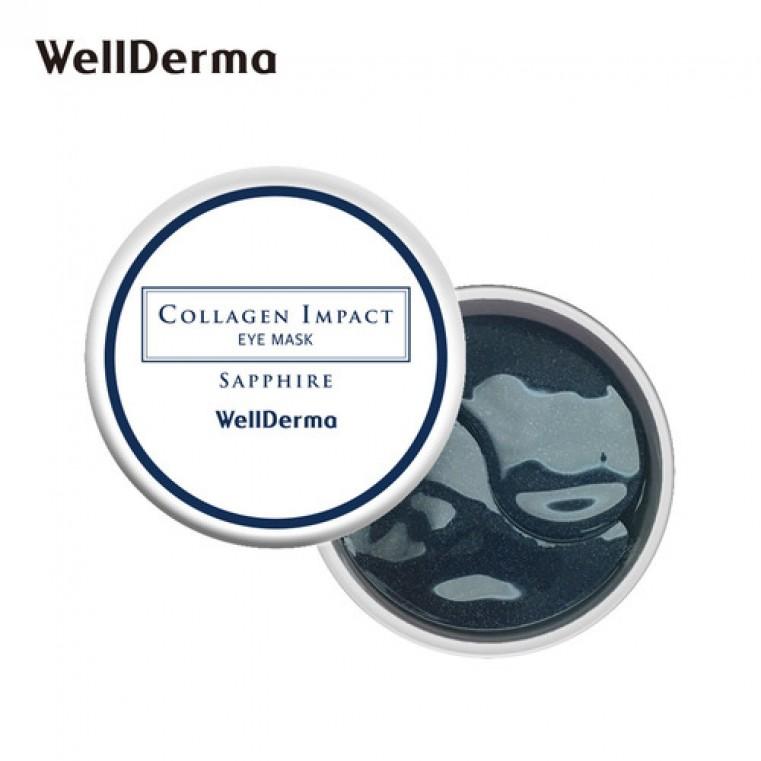 WellDerma Collagen Impact Sapphire Eye Mask Патчи против сухости, тусклости и морщин в зоне вокруг глаз